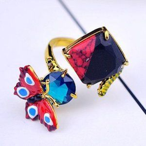 Les Nereides Obscure Butterfly Adjustable Ring